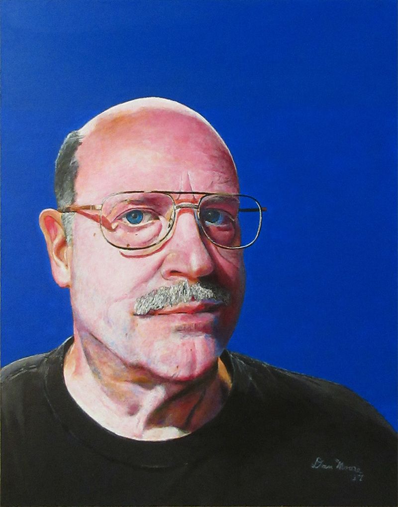 Daniel J. Moore [Normal Light] (Acrylic on 11inx14in Gessobord)